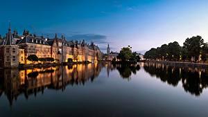 Фотография Нидерланды Здания Пруд The Hague, Hofvijver Города