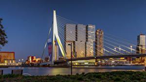 Фотографии Голландия Роттердам Дома Мосты