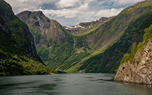 Картинки Норвегия Гора Залива Sognefjord