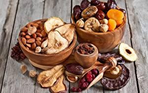 Фотографии Орехи Груши Вблизи Dried fruit Пища
