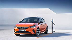 Картинки Opel Оранжевые Металлик Corsa E, 2019, FWD Автомобили