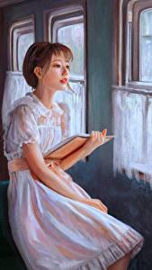 Фотография Рисованные Платье Книга