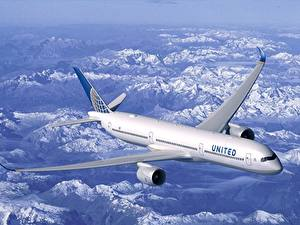Обои для рабочего стола Самолеты Пассажирские Самолеты Boeing B787 Авиация