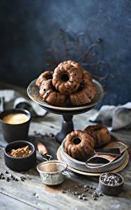 Картинки Выпечка Шоколад Кекс Пища