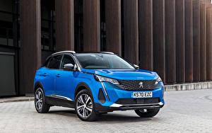 Фотография Peugeot Синих Металлик CUV 3008, UK-spec, 2021 авто