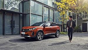 Картинки Peugeot CUV Металлик Оранжевая 4008 GT China, 2020 автомобиль