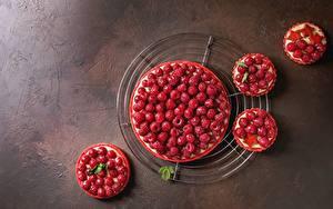 Фото Пирог Ягоды Малина Сверху Продукты питания