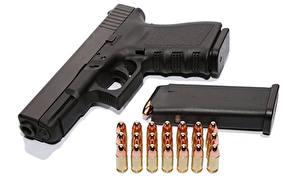 Обои Пистолеты Патроны Белый фон Армия