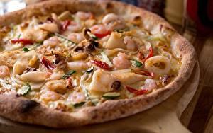 Фотографии Пицца Выпечка Крупным планом Продукты питания