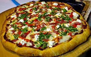 Картинки Пицца Крупным планом Фастфуд Продукты питания