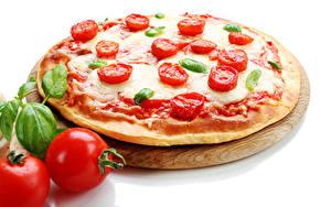 Фото Пицца Томаты Вблизи Еда