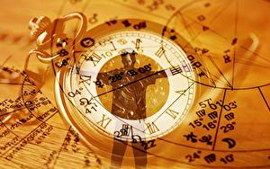 Картинка Карманные часы Силуэт astronomy