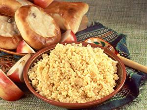 Картинки Каша Яблоки Скатерть Millet porridge