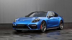 Картинка Porsche Синих Металлик Panamera, GT Edition автомобиль