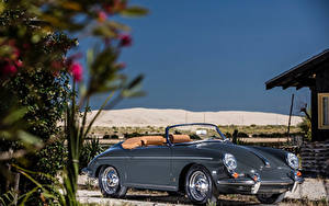 Фотографии Порше Ретро Серая Металлик Кабриолет Родстер 1959-61 356B 1600 Super 90 Roadster by D'ieteren Freres