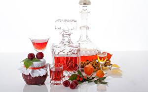 Фото Джем Малина Алкогольные напитки Банке Рюмка Еда