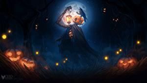 Картинка Тыква Хеллоуин Фонарь Чучело Cleo Naturin Фантастика