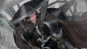Фотография Дождь Шляпы Самурай Капля Аниме