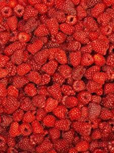 Картинки Малина Текстура Ягоды Много Красный Продукты питания