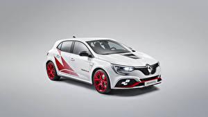 Картинки Renault Стайлинг Серый фон Белый 2019 Mégane R.S. Trophy-R Worldwide Автомобили