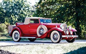 Обои Ретро Красный Родстер 1932 Packard Standard Eight Coupe Roadster