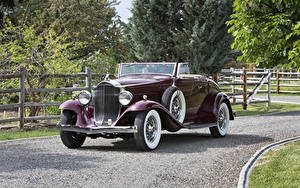 Картинки Винтаж Металлик Кабриолет Родстер 1932 Packard Light Eight Coupe Roadster машина
