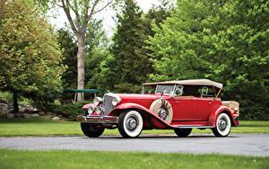 Фото Винтаж Chrysler Красных 1931 Imperia l Dual Cowl Phaeton LeBaron