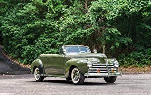 Обои Ретро Chrysler Кабриолета Металлик Зеленых 1941 New Yorker Convertible Coupe автомобиль