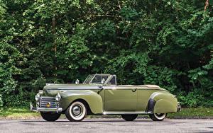 Картинка Винтаж Chrysler Кабриолет Металлик 1941 New Yorker Convertible Coupe машина