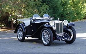 Обои Ретро Кабриолет Родстер MG PA Police Roadster 1934 Авто