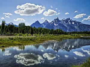 Фото Реки Горы Небо Пейзаж Облачно Природа