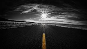 Обои Дороги Асфальт Солнце Природа