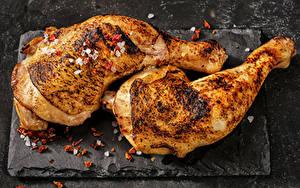 Фотография Курица запеченная Приправы Пища