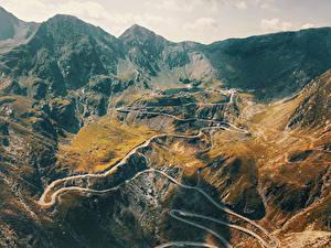 Обои Румыния Горы Дороги Sibiu Природа
