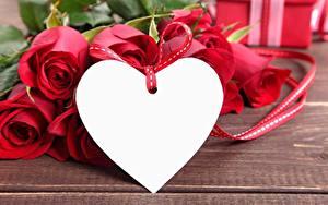 Фото Роза День всех влюблённых Сердечко Шаблон поздравительной открытки цветок