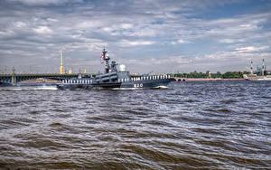 Фото Россия Санкт-Петербург Речка Корабли Города