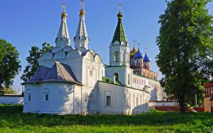 Фотография Россия Храмы Церковь Трава Ryazan