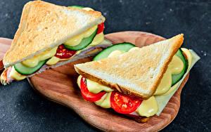 Фото Сэндвич Хлеб Разделочной доске 2