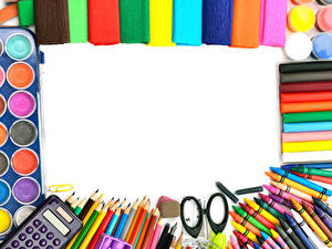 Фото Школа Канцелярские товары Разноцветные Шариковая ручка Карандаш Шаблон поздравительной открытки