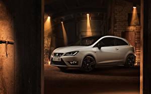 Картинка Сиат Белых 2015 Seat Ibiza Cupra машина