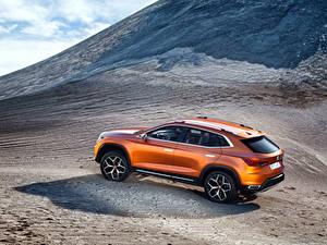 Фотография Сиат Горы Оранжевый Сбоку 2015 Concept 20V20 авто