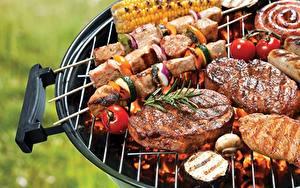 Обои Шашлык Мясные продукты Barbecue