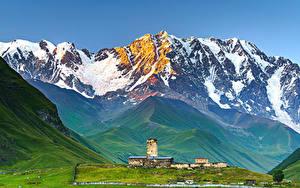 Картинки Небо Гора Грузия Ushguli, Upper Svaneti