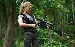 Обои Снайперская винтовка Снайперы Блондинка Lobaev Sniper Rifle, TSVL-8 Stalingrad Девушки