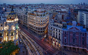 Фото Испания Мадрид Здания Улице Города