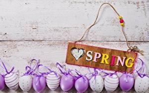 Картинка Весна Пасха Яйца Инглийские Слово - Надпись