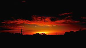 Обои Рассветы и закаты Силуэт Природа