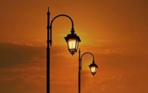 Фотографии Рассвет и закат Уличные фонари 2