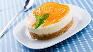 Картинки Сладости Пирожное Желе Тарелке Еда