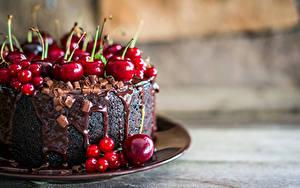 Обои Сладости Торты Черешня Смородина Шоколад
